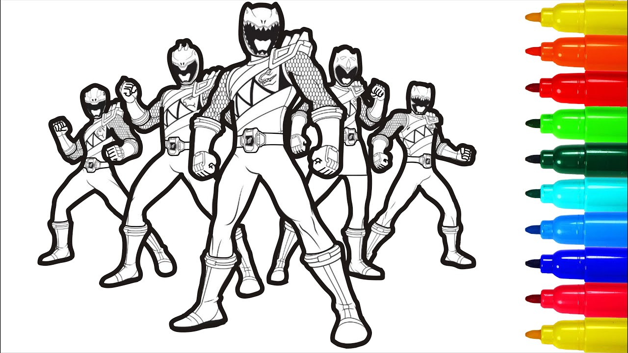 Power Rangers Dino Charge Coloring Pages - YouTube