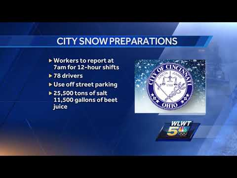 How Cincinnati is preparing roads for weekend snow