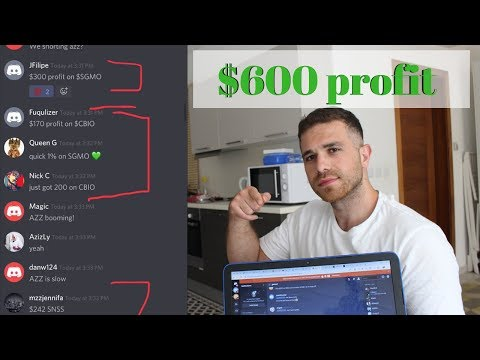 Day Trading Stocks With My Subscribers & Making $600 In 8 Minutes