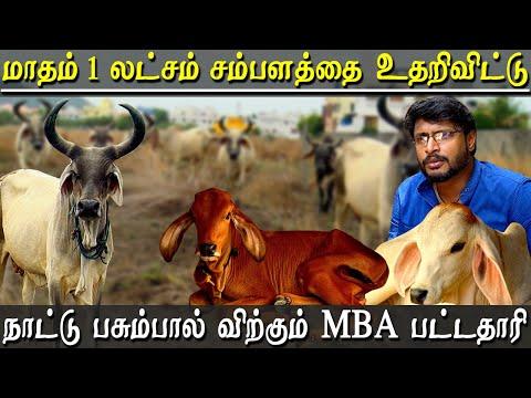 gir cow milk farm in chennai - Kankrej and gir cows dairy farm run by MBA graduate