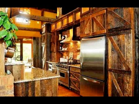 Kitchen Barn awesome barn door kitchen cabinets - youtube