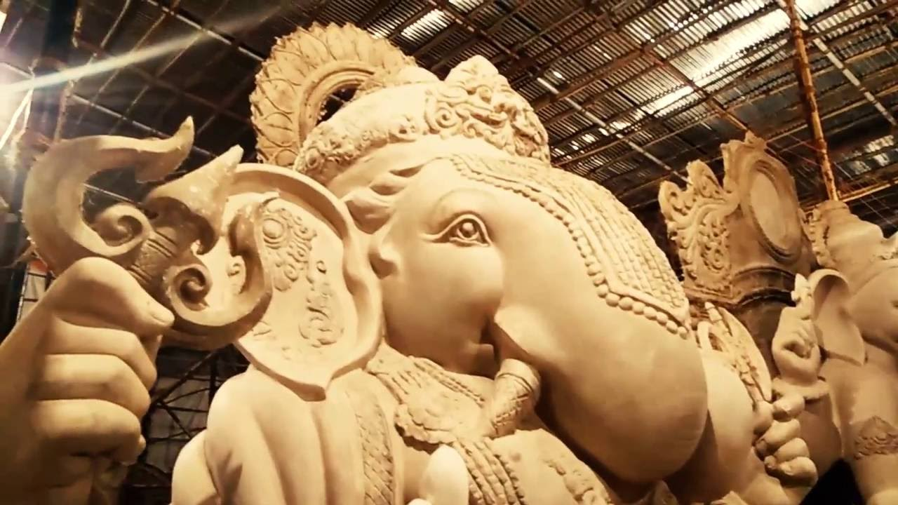 Vijay khatu biggest ganpati idol workshop in mumbai 2016 youtube thecheapjerseys Image collections
