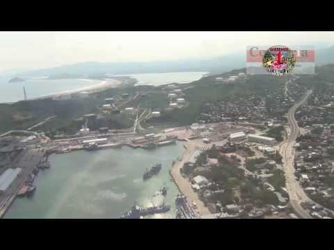 """Recorrido aereo sobre el puerto de """"Salina Cruz"""""""