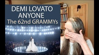 Voice Teacher Reaction to Demi Lovato  - Anyone | Live at The  62nd GRAMMYs 2020