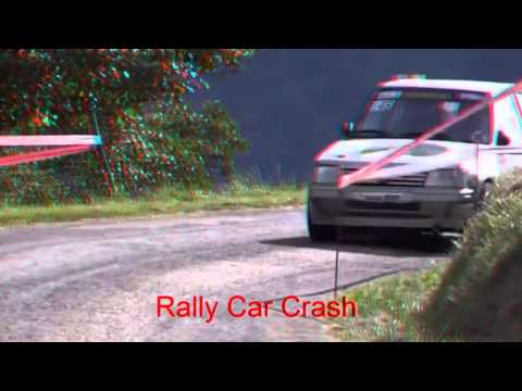 Car crashed at high speed on the track