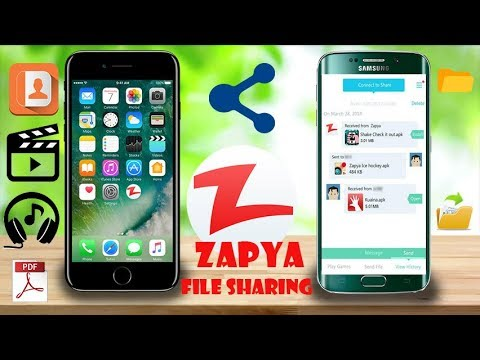 How To Connect Iphone To Android Zapya [HINDI]