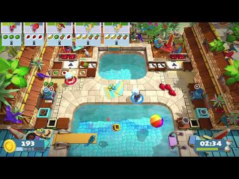 Overcooked 2 - Surf 'n' turf 1-4, 2 players, 4 stars  