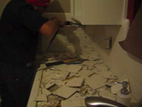 How To Remove Tiles Effortlessly YouTube - Air chisel tile removal