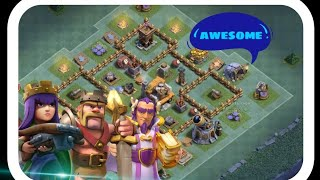 All troops and kings vs builder base in coc (clash of clans).