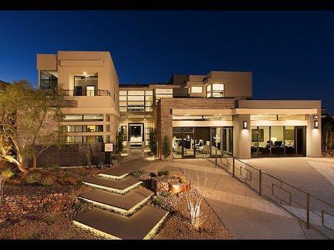 MyHeaven @ $2,200,000 Summerlin NV: Award-Winning Luxury Modern Model Home in White   Silver Ridge 2
