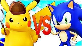 ПИКАЧУ VS СОНИК | СУПЕР РЭП БИТВА | Pokemon Detective Pikachu ПРОТИВ Sonic Movie