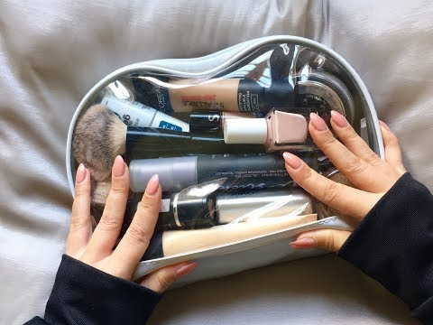 ASMR Plastic/Sticky Sounds & Tapping on a Makeup Bag, no talking