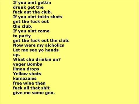 LMFAO feat Lil Jon  Shots lyrics