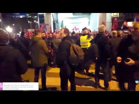 Alle beelden Turken rellen in Rotterdam 2017! Consulaat turkije