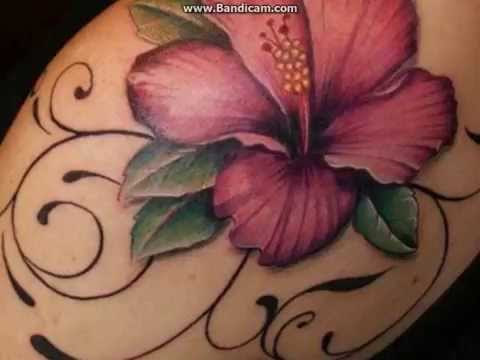 Hawaiian Flowers Tattoos Design And