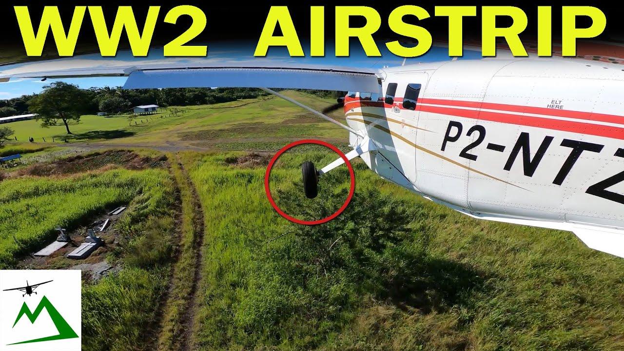 LOOK at This Old World War 2 Airstrip in PNG   Bush Pilot Flight Vlog