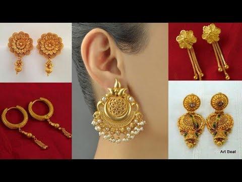 Gold Earrings Designs Latest