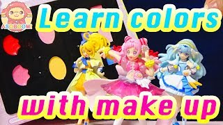 【Learn Colors for Children】Learn colors with make up❤️Finger Family Song❤️キッズ アニメ おもちゃ ASOBOOM!