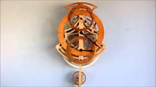 The Leeds 7 Day 3 Wheel Clock.wmv