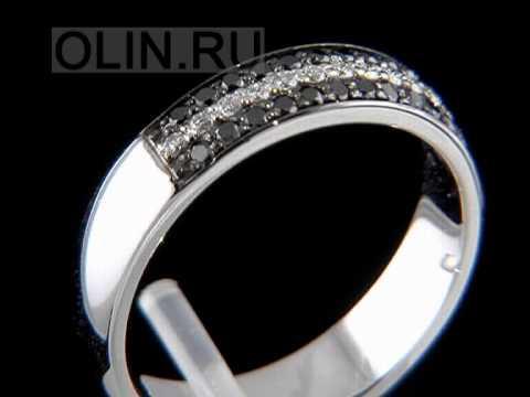 Видео Обручальное кольцо белое золото с бриллиантом фото