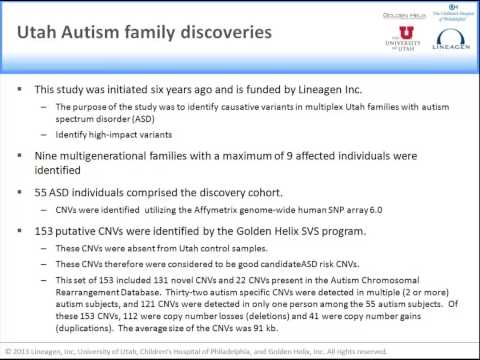 New Study Identifies High-Risk Variants Associated with Autism Spectrum Disorders