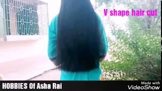 Just modify long hair to short v shape hair cut HOBBIES Of Asha Rai(Bilaspur,CG)