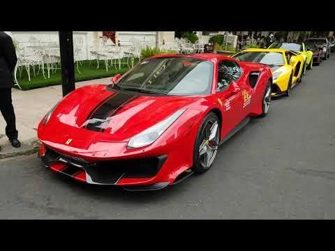 Ferrari 488 Pista Spider đầu tiên Việt Nam cùng dàn siêu xe Hoàng Kim Khánh McLaren Senna Aventador