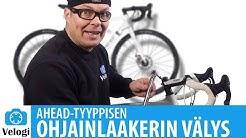 Polkupyörän ohjainlaakerin kiristys