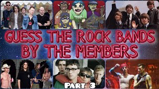 Guess the Rock Bands Challenge | Part 3 | Rock Music Quiz Trivia | Guess the Singer & Band | 2021