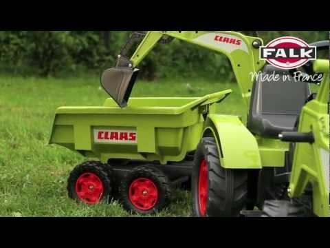 Ogromny traktor, koparka dla dzieci na pedały, wywrotka CLAAS AXOS 1010W