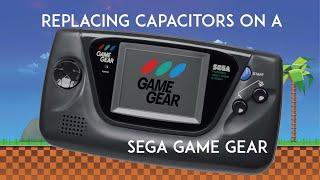 Sega Game Gear Capa¢itor Replacement DIY