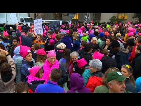 Women's march on Washington set to begin