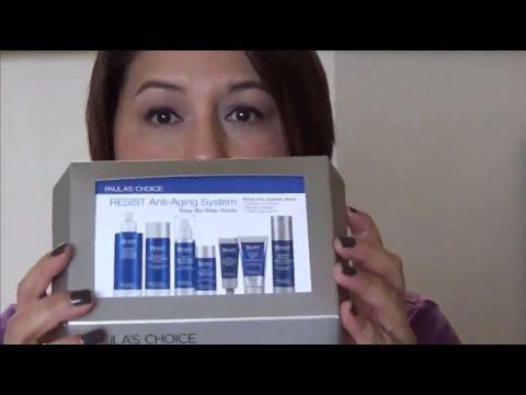 Paula's Choice Anti-Aging Sample Kit Review - Part 1 - YouTube