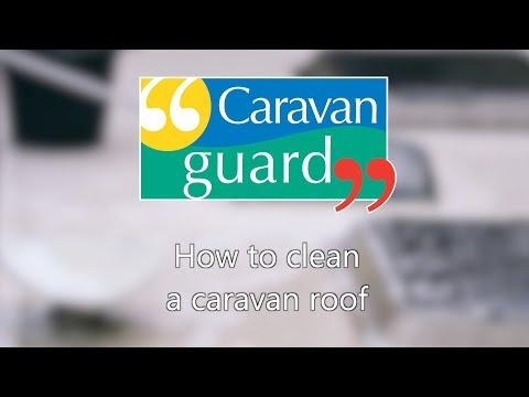 How to clean a caravan roof