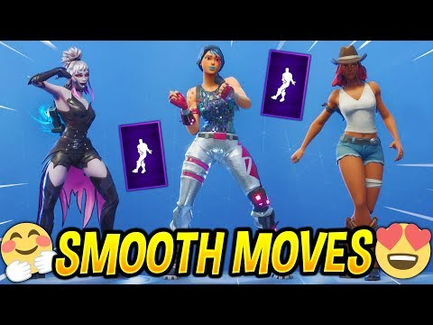 *NEW* Fortnite Smooth Moves Emote With Popular Female Skins..!