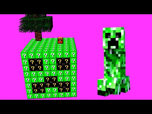 CREEPER LUCKY SKYBLOCK CHALLENGE! (Lucky Blocki!)
