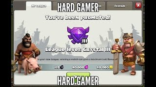 TH 7 - How to Push to crystal League with hog Archer giant | Clash of Clans