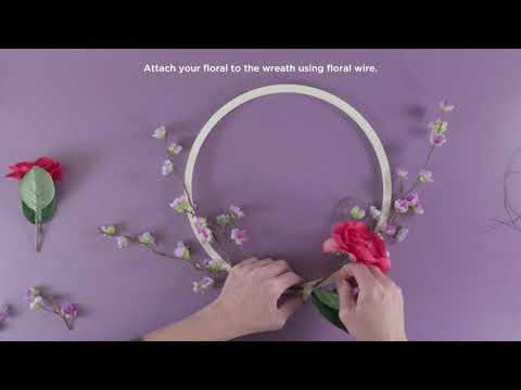 DIY Spring Hoop Wreath | Michaels