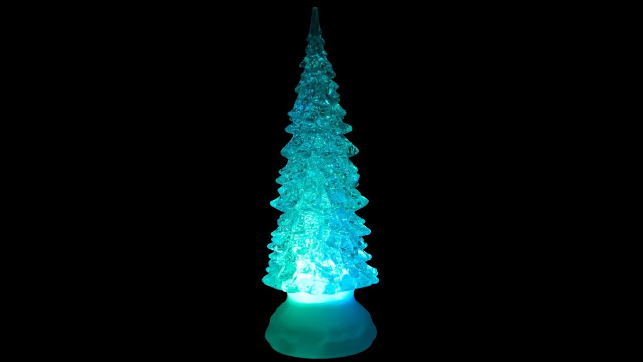 illuminated ornament clear led tree snowglobe 22cm christmas warehouse