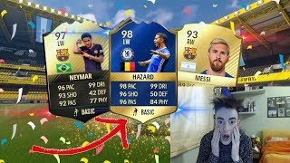 HAZARD TOTS 98 + NEYMAR IF 97 + MESSI IN A PACK 😱🏆!!! TOP 5 BEST PACK OPENING! FIFA 17 ITA #90