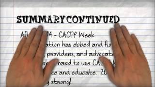 CACFP Week - A Brief History
