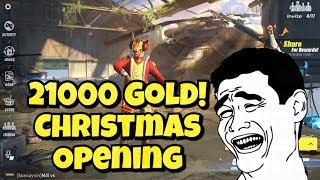 RULES OF SURVIVAL - 21000gold christmas crate opening