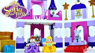 Princess Sofia The First Royal Lego Castle Disney Duplo Preschool Building Toys Princesa Castillo
