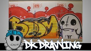 Graffiti Speed Drawing #4 - Letters Boom & Character
