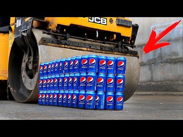 EXPERIMENT: ROAD ROLLER VS 100 PEPSI CANS