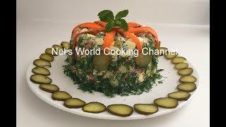 "Olivier Salad Recipe (Russian Potato Salad) - Салат ""Оливье"" (Вкусный Домашний Рецепт) Olivier Salad"