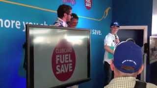 BTCC Snetterton 2014 - Driver Q&A with Jason Plato & Sam Tordoff in the Tesco Filling Statio