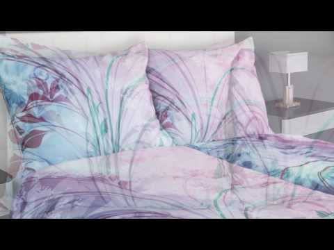 Satin Bettwäsche Mit Feinem Glanz In Rosa Und Blaugrün Glamonde
