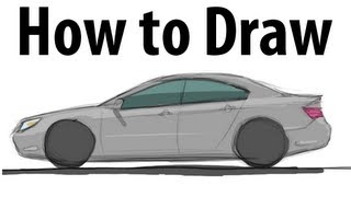 How to draw an Acura RL - Sketch it quick!