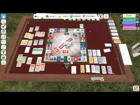Tabletop Simulator Fallout Monopoly Part 1 (Playing For Caps, Not Dollars!)